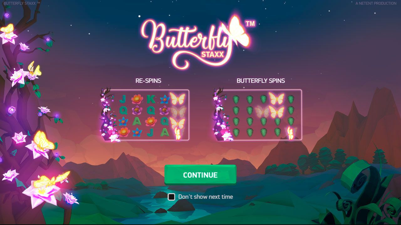The main features of Butterfly Staxx slot machine by NetEnt