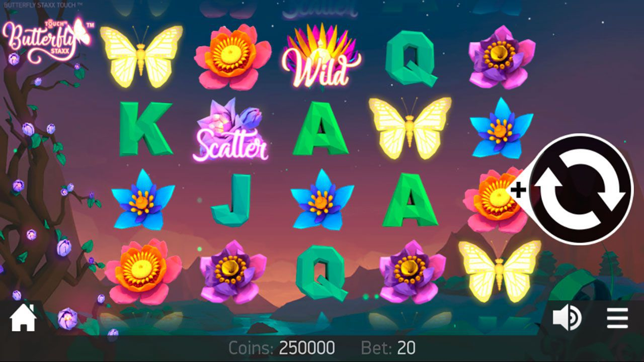 Mobile version of Butterfly Staxx video slot