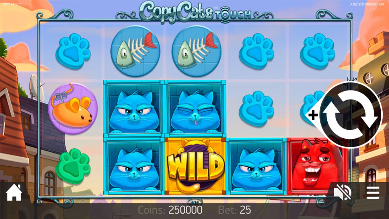 Mobile version of Copy Cats video slot