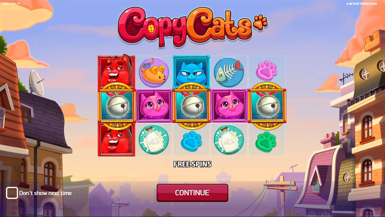 The main features of Copy Cats slot machine by NetEnt