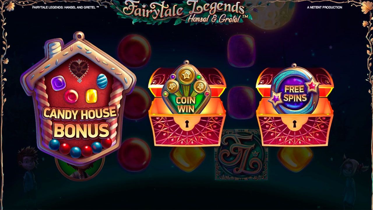 The choice of bonus features at Fairytale Legends: Hansel and Gretel video slot