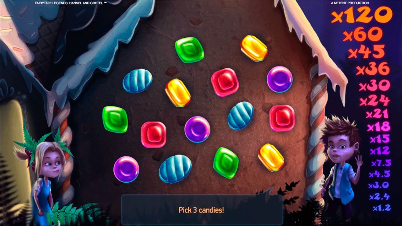 Candy House Bonus game at Fairytale Legends: Hansel and Gretel slot machine