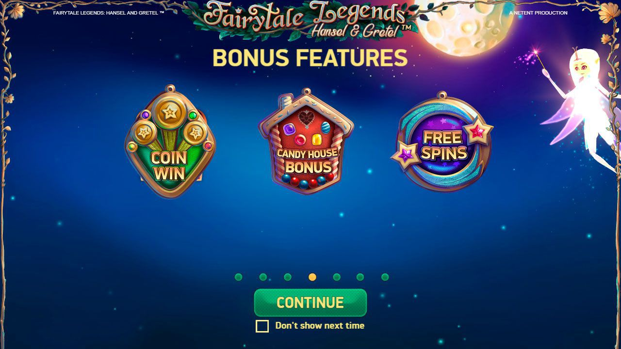 The main features of Fairytale Legends: Hansel and Gretel slot machine by NetEnt
