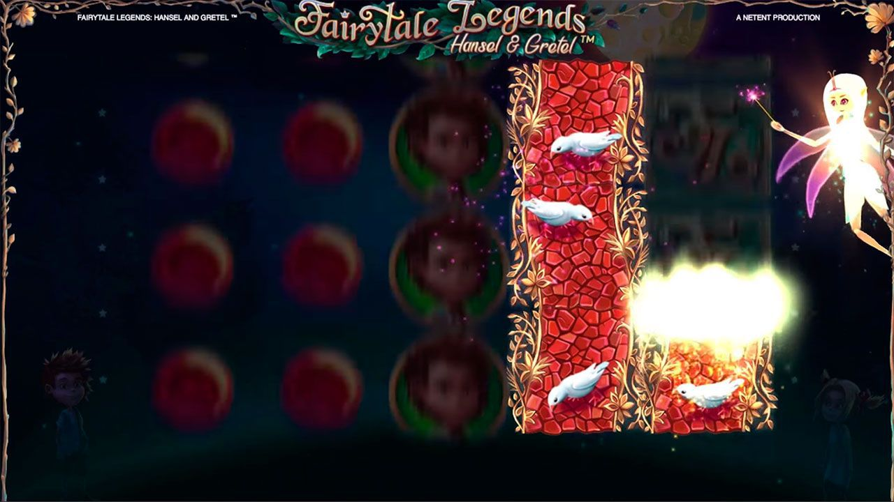 Fairy Wild Spin feature at Fairytale Legends: Hansel and Gretel slot machine