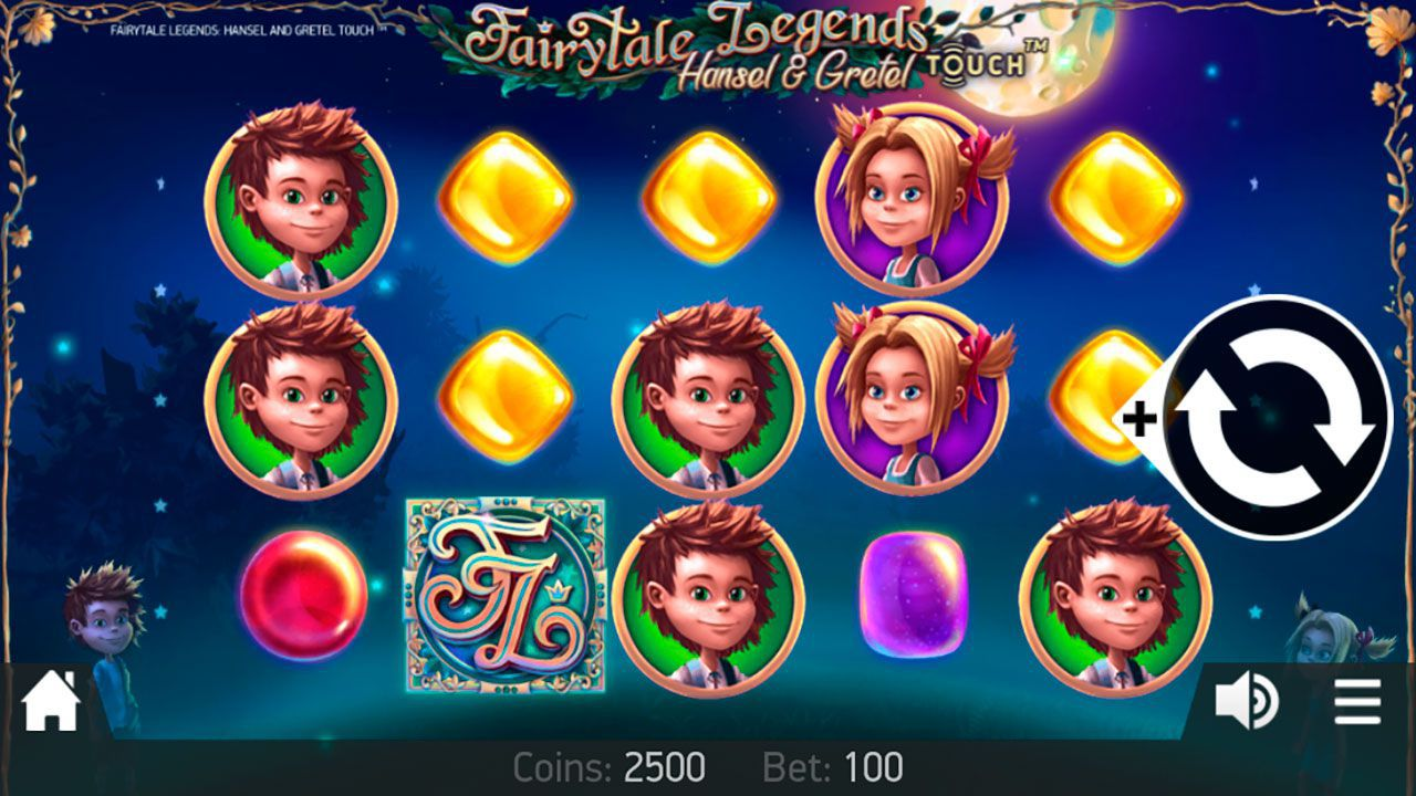 Mobile version of Fairytale Legends: Hansel and Gretel video slot