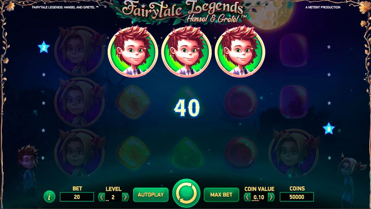 Gaming process at Fairytale Legends: Hansel and Gretel slot machine