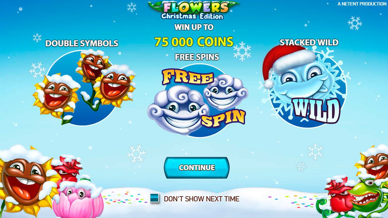 The main features of Flowers: Christmas Edition slot machine by NetEnt