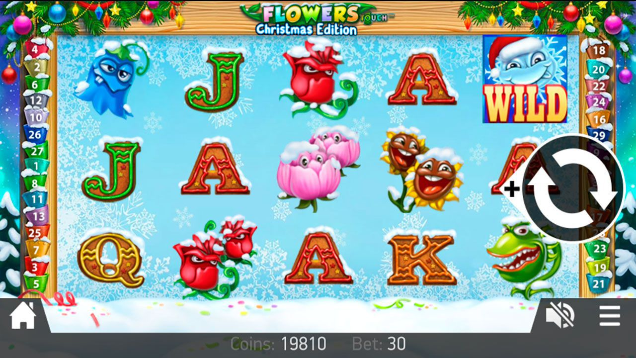 Mobile version of Flowers: Christmas Edition video slot