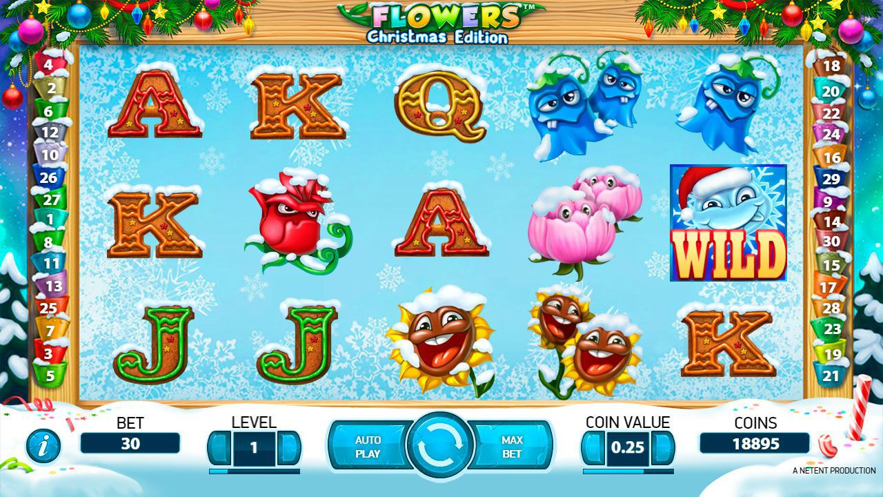 Design of Flowers: Christmas Edition slot machine