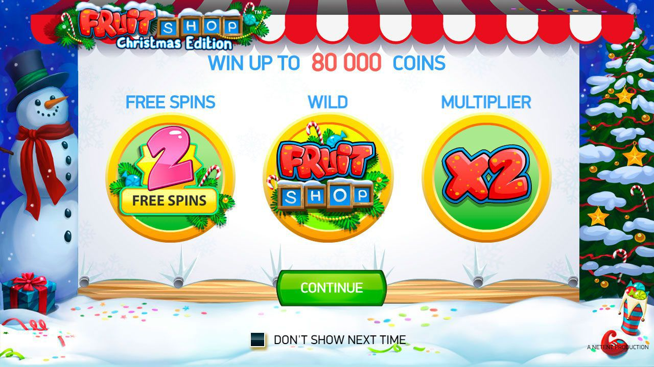 The main features of Fruit Shop: Christmas Edition slot machine by NetEnt