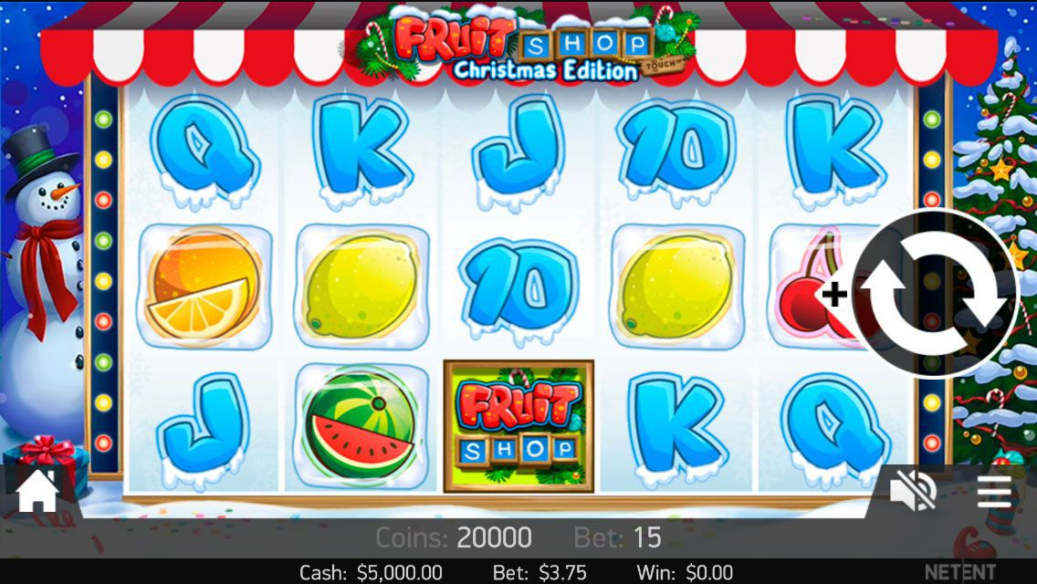 Mobile version of Fruit Shop: Christmas Edition video slot