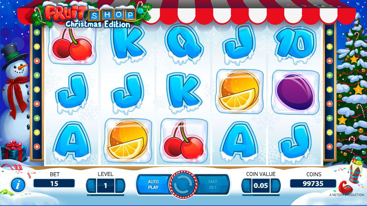 Design of Fruit Shop: Christmas Edition slot machine