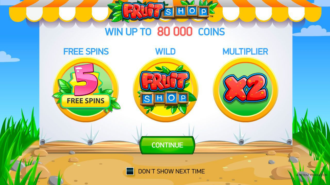 The main features of Fruit Shop slot machine by NetEnt