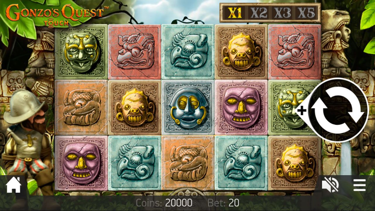 Mobile version of Gonzo's Quest video slot