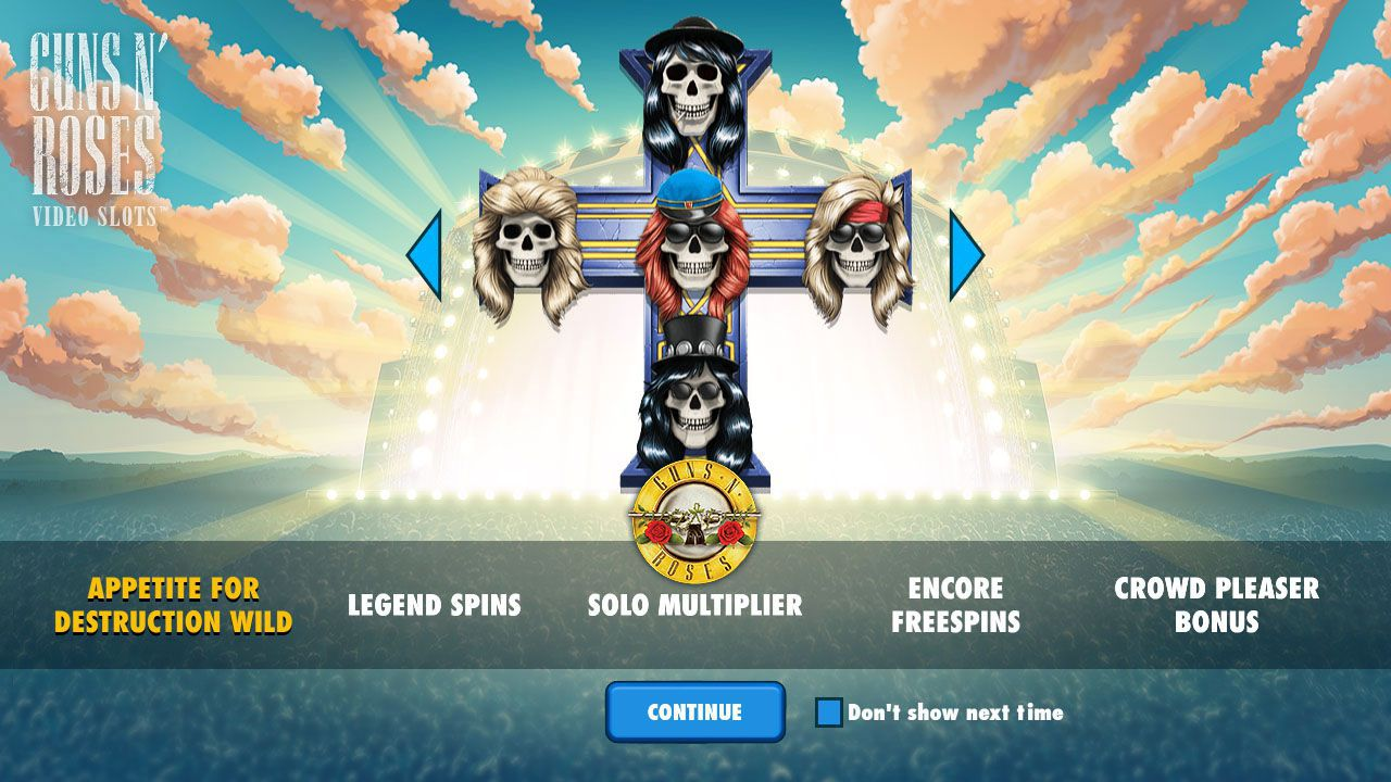 The main features of Guns N' Roses slot machine by NetEnt