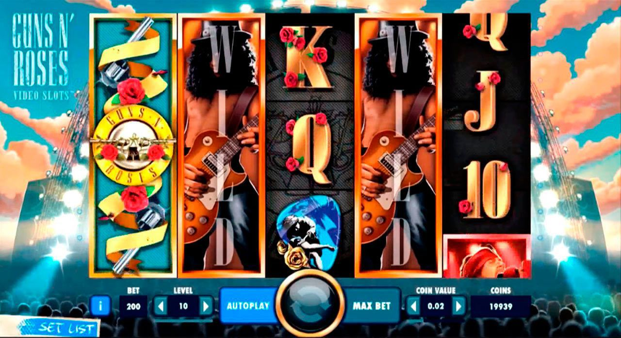 Legend Spins feature at Guns N' Roses slot machine