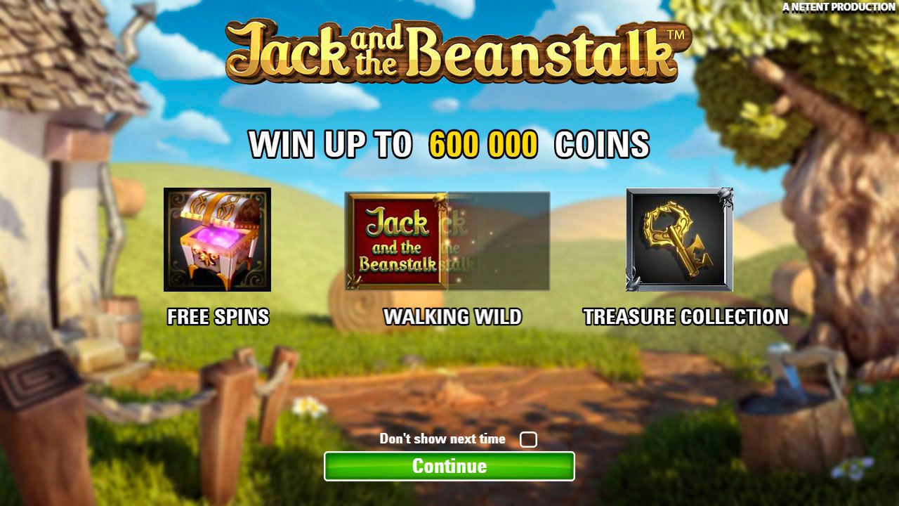 The main features of Jack and the Beanstalk slot machine by NetEnt