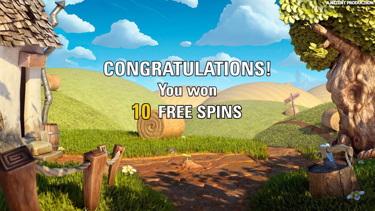 Activation of Free Spins round at Jack and the Beanstalk video slot