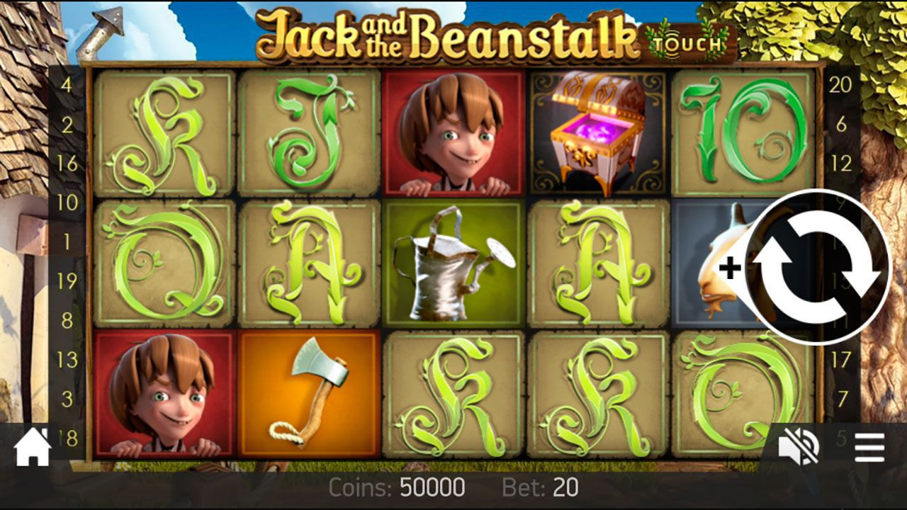 Mobile version of Jack and the Beanstalk video slot