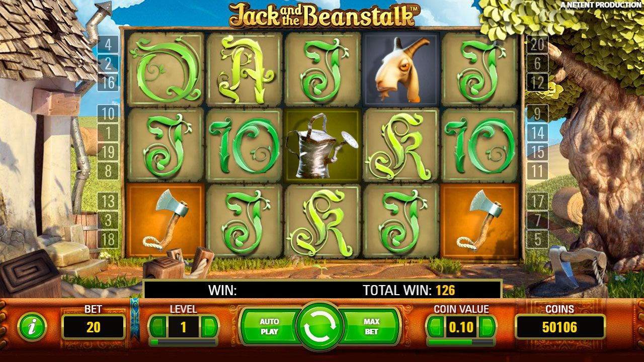 Design of Jack and the Beanstalk slot machine