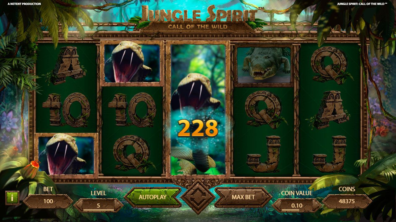 Symbol Expansion feature at Jungle Spirit: Call of the Wild slot machine