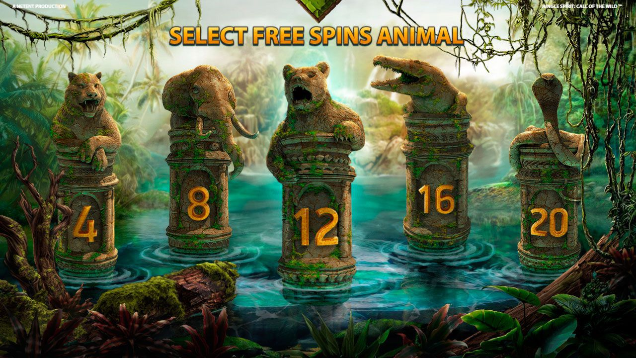 Selecting Free Spins Animal at Jungle Spirit: Call of the Wild slot machine