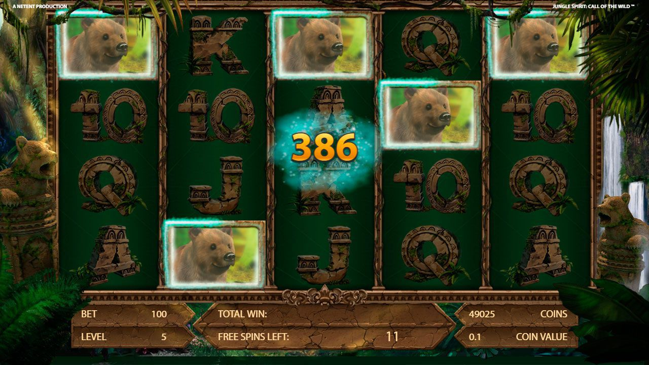 Free Spins round at Jungle Spirit: Call of the Wild slot machine