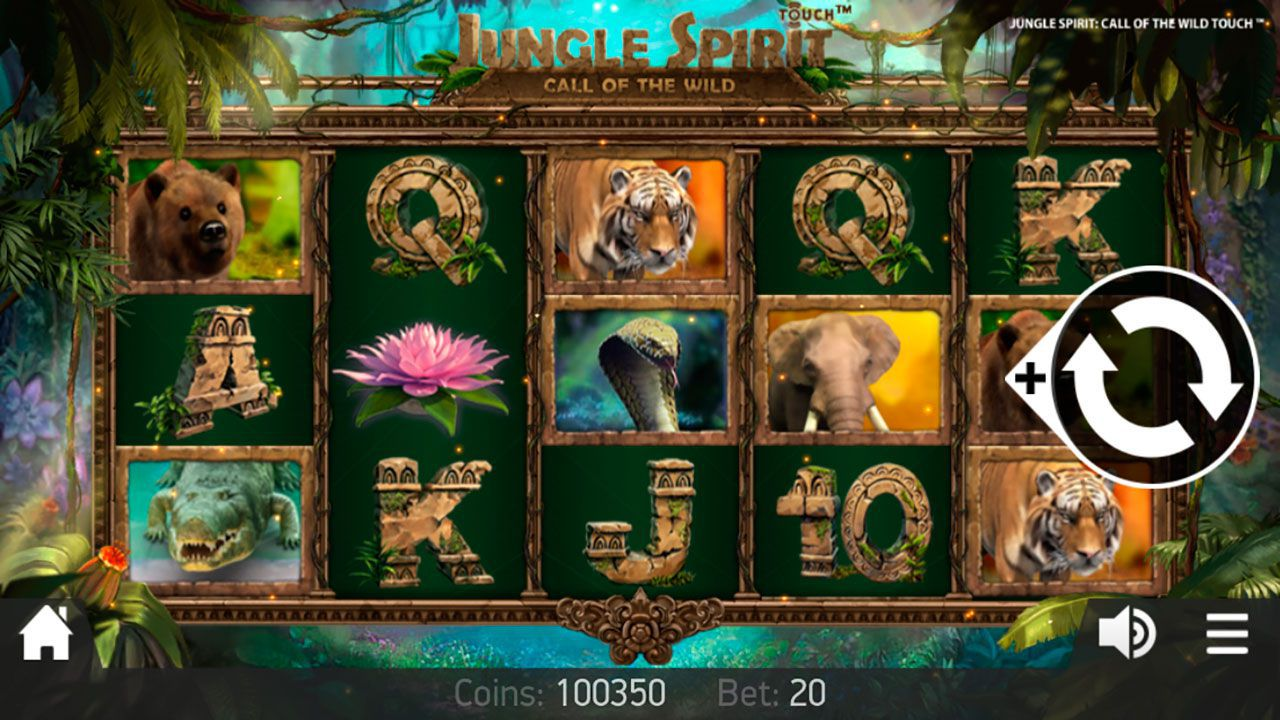 Mobile version of Jungle Spirit: Call of the Wild video slot