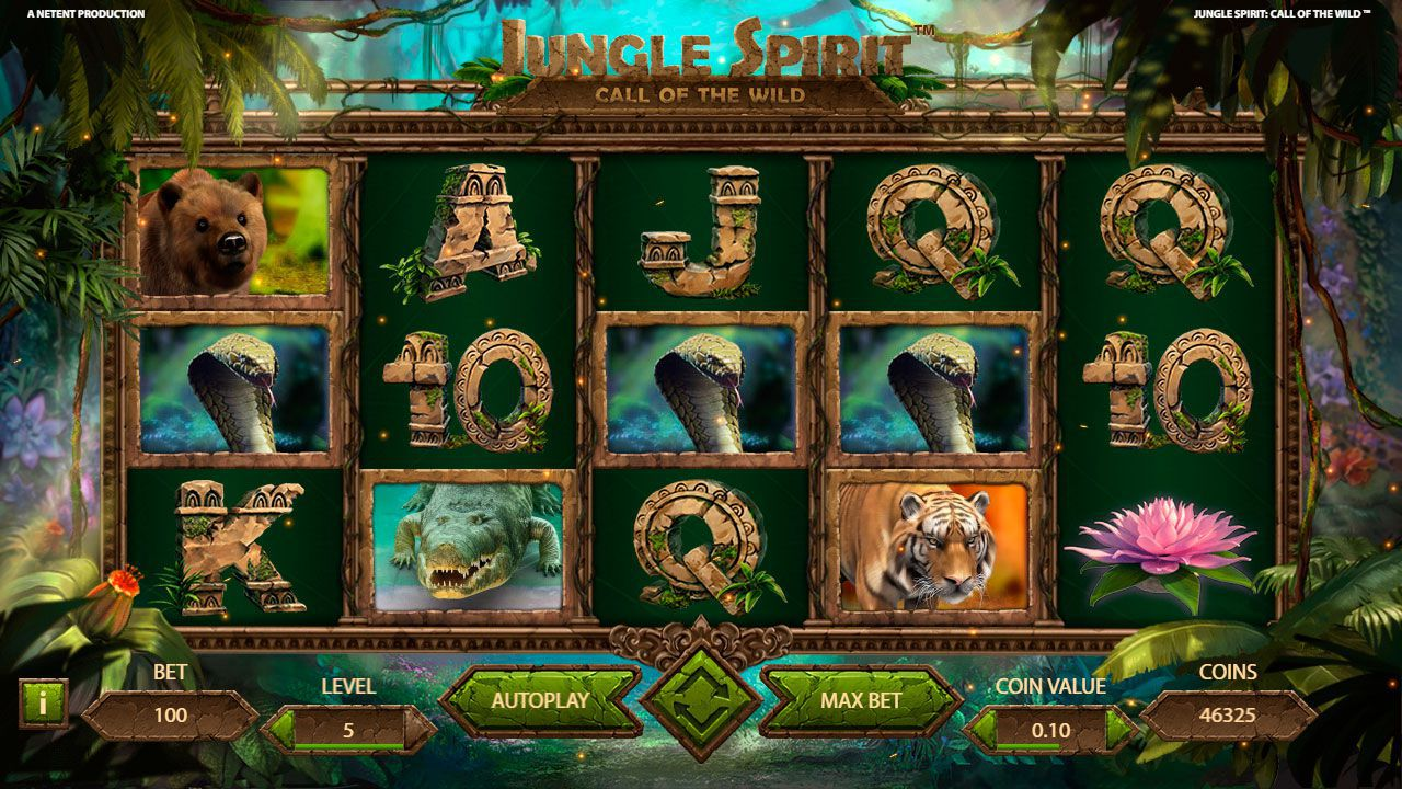 Design of Jungle Spirit: Call of the Wild slot machine