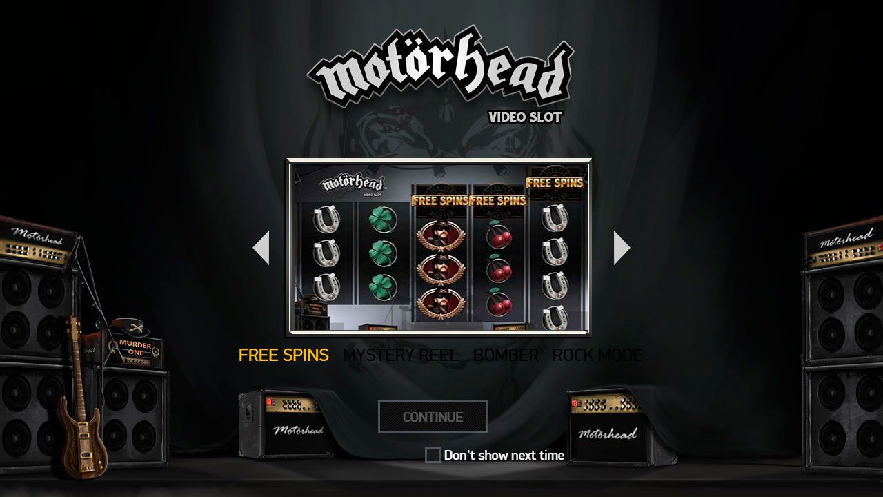 The main features of Motörhead slot machine by NetEnt