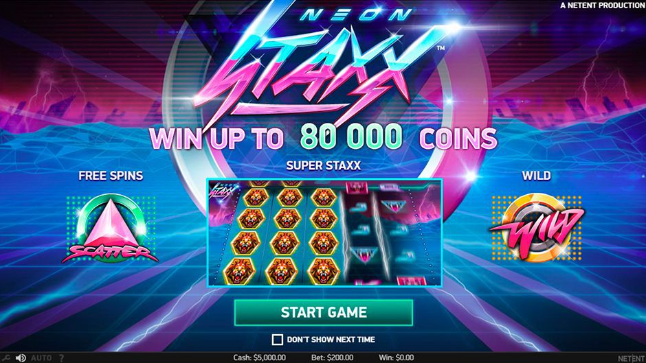 The main features of Neon Staxx slot machine by NetEnt