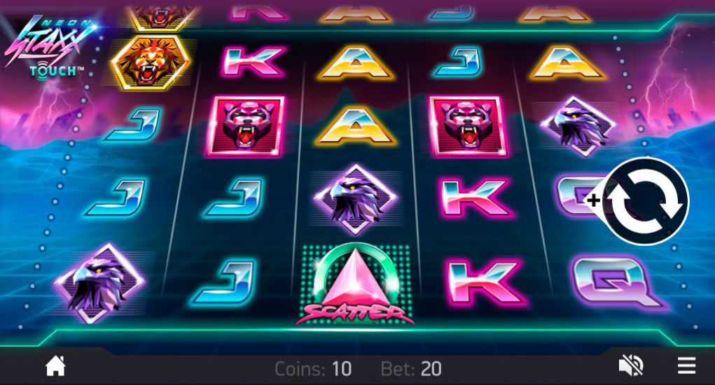 Mobile version of Neon Staxx video slot