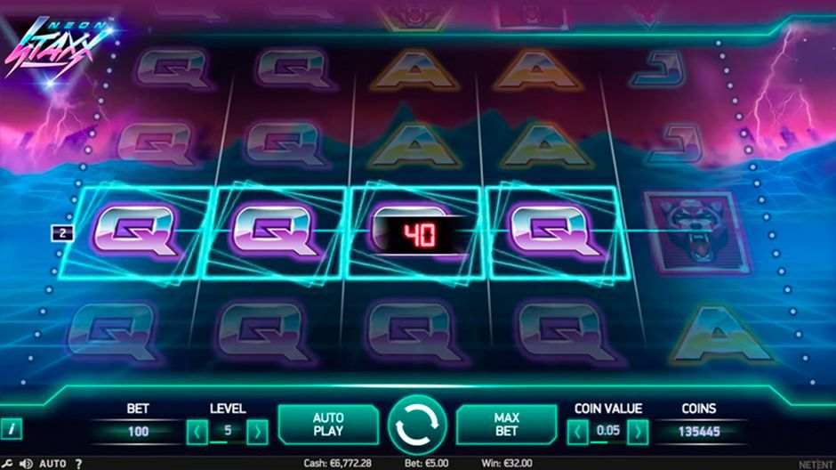 Win line at Neon Staxx slot