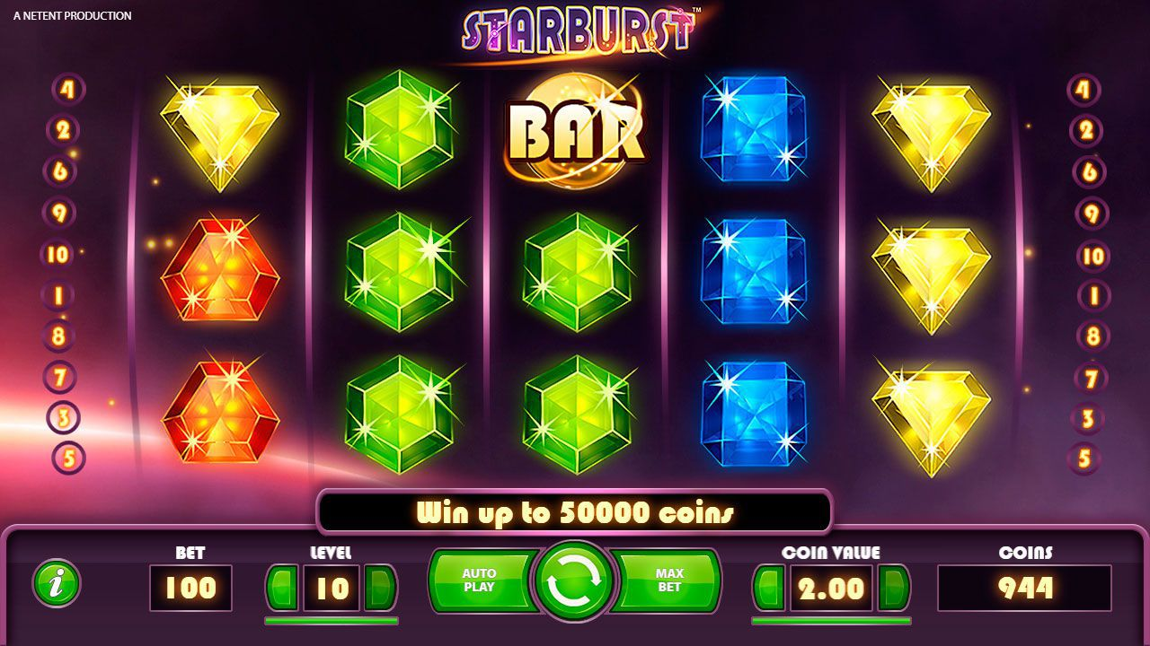 Design of Starburst  slot machine