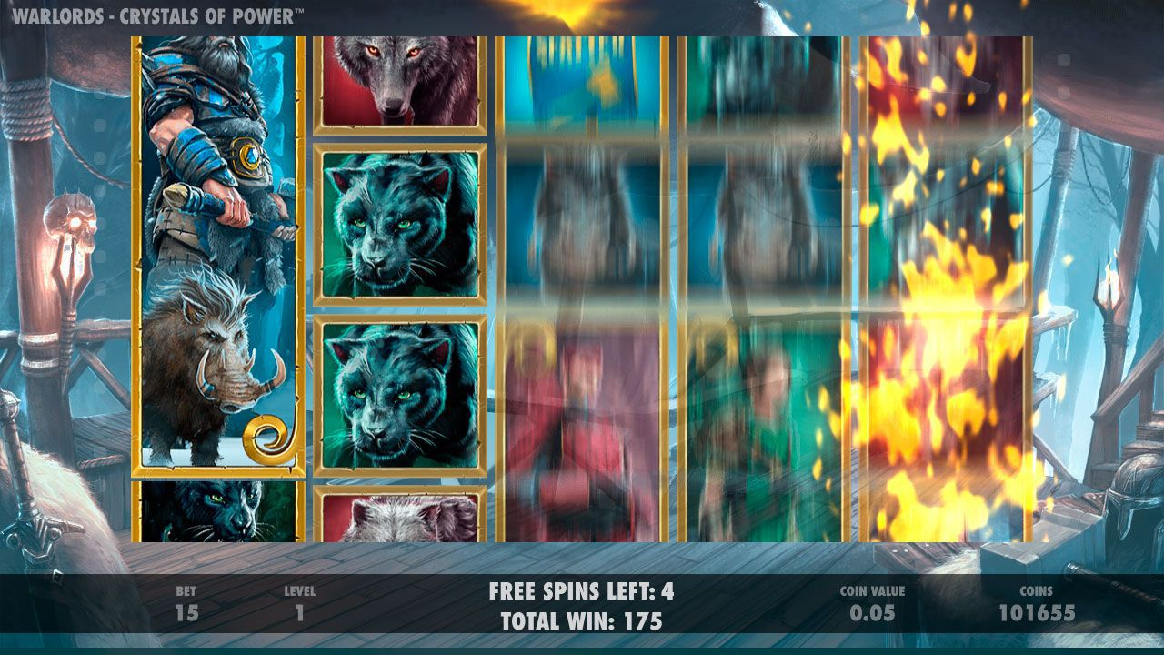 Barbarian Free Spins game at Warlords: Crystal of Power slot machine