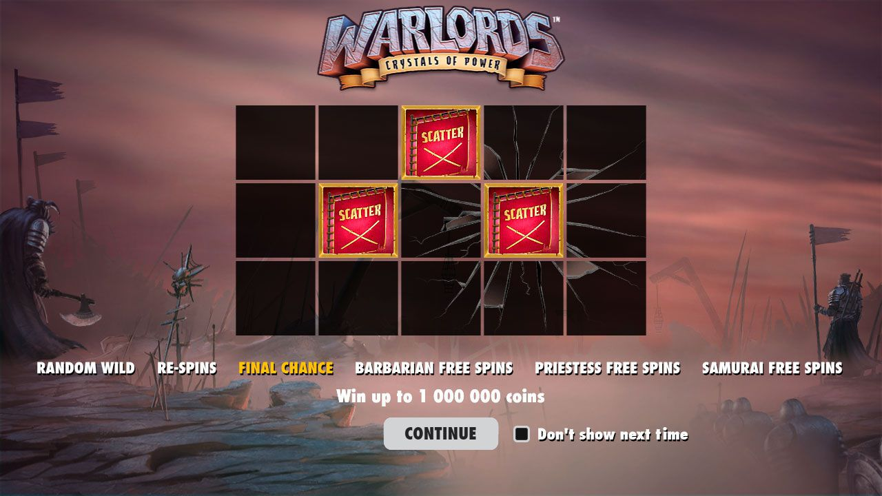 The main features of Warlords: Crystal of Power slot machine by NetEnt