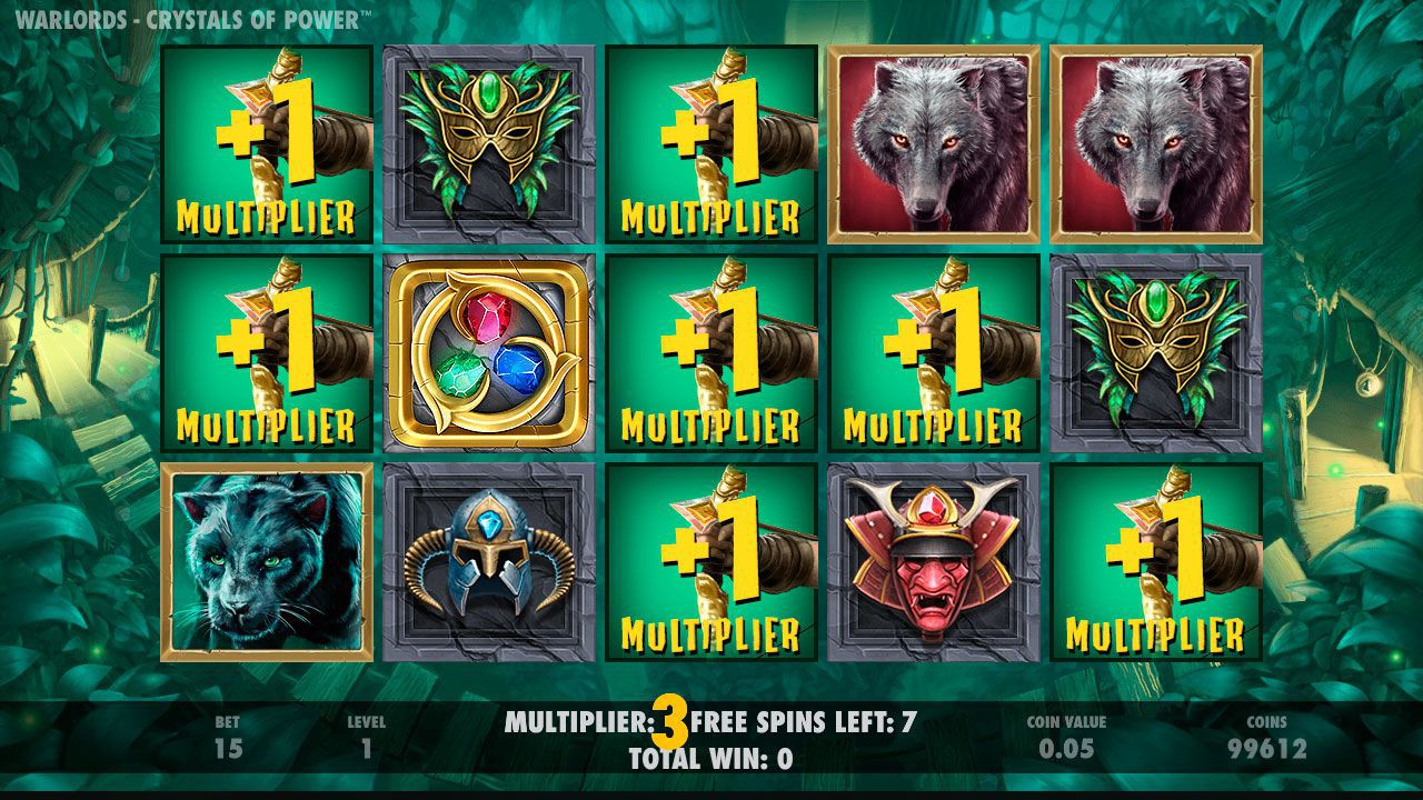 Priestess Free Spins game at Warlords: Crystal of Power slot machine