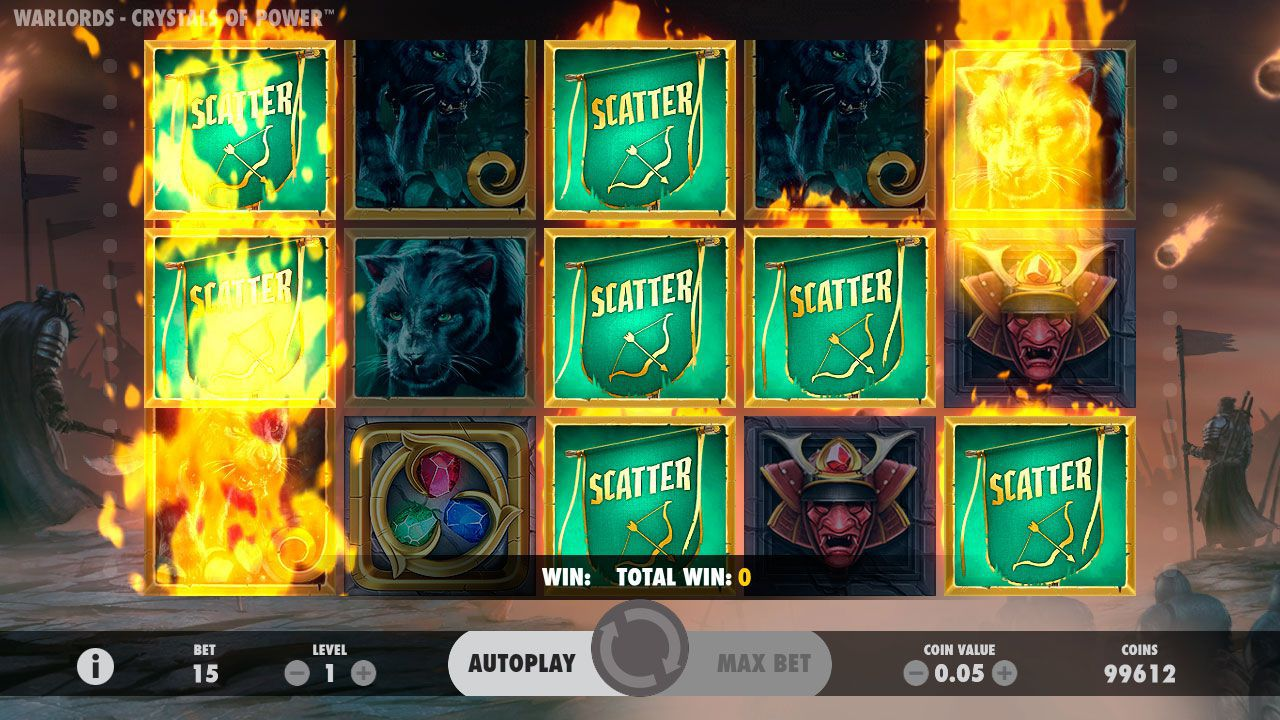 Re-Spins bonus feature at Warlords: Crystal of Power slot machine