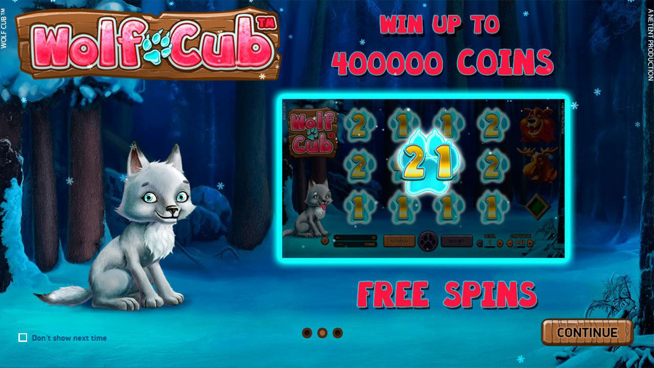 Features of Wolf Cub video slot by NetEnt