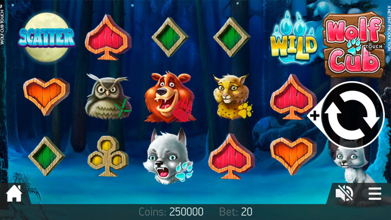 Mobile version of Wolf Cub video slot