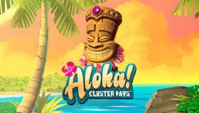 Surf with 15 Free Spins on Aloha! Cluster Pays