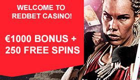 1000 Welcome Package 250 Free Spins At Redbet Casino