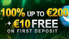 Free €10 for your first deposit at VideoSlots Casino + 100% bonus up to €200