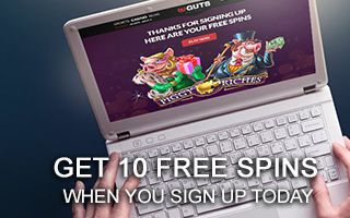 Guts Casino Free spins sign up bonus