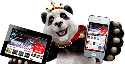 Royal Panda Casino mobile version for iPhone/iPad and Android devices