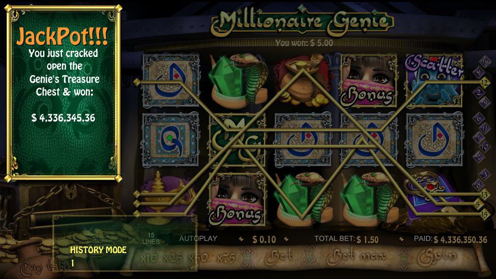 Player hits Millionaire Genie Jackpot Gold