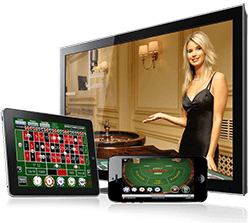 Real money live dealer casino games at Casino SuperLines