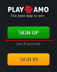 PlayAmo Casino sign up