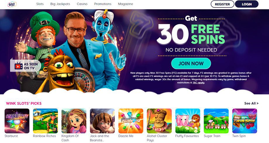 Wink Slots Casino official web site for real money