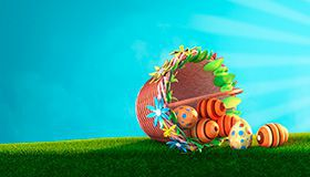 Hunt 1250 freespins and €200 this Easter at Bonanza Game Casino